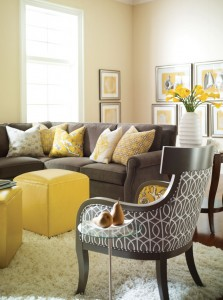 livingroom-grey-yellow-living-room-ideas-with-black-chair-patterned-and-brown-sofa-also-five-yellow-cushion-and-yellow-box-ottoman-plus-white-fur-rug-and-charming-beige-wall-with-white-window-and-some